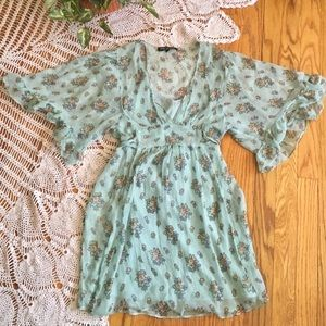 Betsey Johnson Sheer Flower Tunic